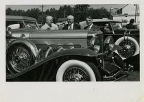 Image of Men with Duesenberg 1976 - Jack Randinelli ACD Collection