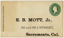 Image of Envelope to E. B. Mott, Jr. - Extraordinary Hoosiers: John Martin Smith Collection