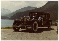 Image of Automobile in front of mountains - Jack Randinelli ACD Collection