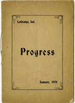 "Image of 1901 LaGrange High School ""Progress"" Publication, LaGrange, Indiana - John Martin Smith Miscellaneous Collection"