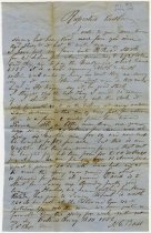 Image of 1853 Jason G. Bass Letter, Fort Wayne, Indiana - John Martin Smith Miscellaneous Collection
