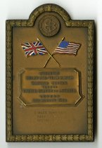 Image of 2014.12.06 - This is an Athletic Relay and Team Match British Empire Versus United States of America pin given to Don Lash for the 3 miles team race that took place in London on August 15th, 1936, in which America came in second to the British Empire.