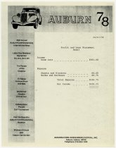 Image of Auburn Cord Duesenberg Festival expenses statement for 1978 - Jack Randinelli ACD Collection