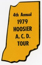 Image of 1979 Hoosier ACD Tour bumper sticker  - Jack Randinelli ACD Collection