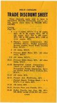 Image of Higley Trade Catalogue of Butler, IN Discount Sheet. - John Martin Smith Miscellaneous Collection