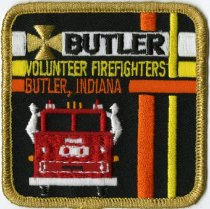 Image of Butler, Indiana Volunteer Firefighter Patch. - John Martin Smith Miscellaneous Collection