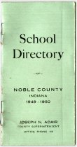 Image of 1949-50 Directory for Noble County Schools, Noble County, Indiana - John Martin Smith Miscellaneous Collection