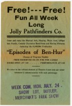 Image of Handbill for a Jolly Pathfinders Co. Production. - John Martin Smith Miscellaneous Collection