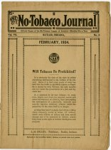 Image of February 1924 Issue of the No Tobacco Journal. - John Martin Smith Miscellaneous Collection