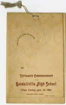 Image of 1892 Commencement Program for Kendallville High School, Kendallville, Indiana - John Martin Smith Miscellaneous Collection