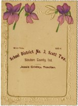 Image of 1895-96 Enrollment for School District No. 3, Scott Township, Steuben County, Indiana - John Martin Smith Miscellaneous Collection