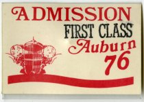 Image of 2016.06.01 - This is a First Class Admission Pin for the 1st Annual Hoosier Auburn-Cord-Duesenberg Tour from 1976.