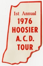 Image of 1976 1st Annual Hoosier ACD Tour Bumper Sticker - Jack Randinelli ACD Collection