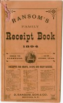 Image of Ransom's Family Receipt Book for 1894 - John Martin Smith Miscellaneous Collection