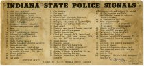 Image of Indiana State Police Signals - John Martin Smith Miscellaneous Collection
