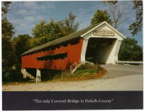 Image of Spencerville Covered Bridge Postcard - Front