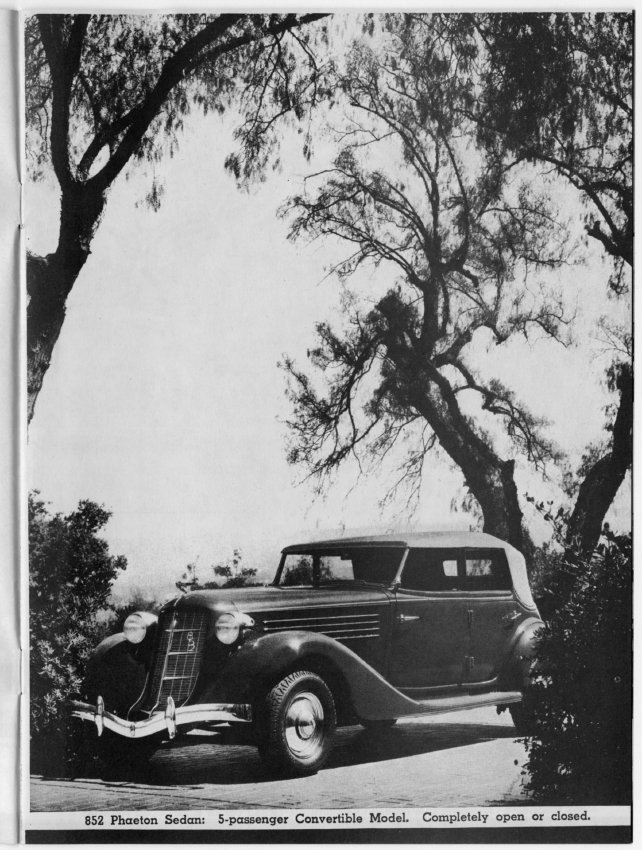 Brochure Copy Advertising New 1936 Auburn Vehicles - Jack ...