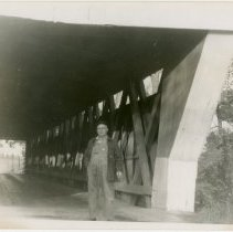 Image of Covered Bridge Entrance Photograph
