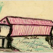 Image of Dills Covered Bridge Drawing