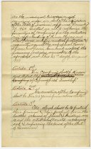 Image of 1888 Articles of Association for the Brushy Prarie Regulators of Springfield Township, LaGrange County, Indiana - John Martin Smith Miscellaneous Collection
