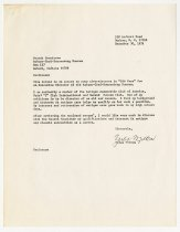 Image of Letter and Resume for the ACD Museum Search Committee from Yates Milton - Jack Randinelli ACD Collection