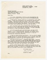 Image of Letter and Resume for the ACD Museum Search Committee from Robert B. Eckel - Jack Randinelli ACD Collection