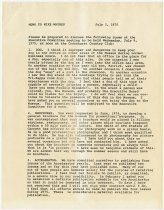 Image of John Martin Smith's Memo to Mike Wagner Regarding Points to be Discussed at Executive Committee Meeting - Jack Randinelli ACD Collection