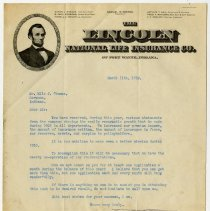 Image of Lincoln National Life Insurance Company Agent Promotion - John Martin Smith Miscellaneous Collection