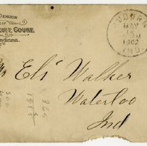 Image of Clerk of Dekalb Circuit Court Envelope - John Martin Smith Miscellaneous Collection