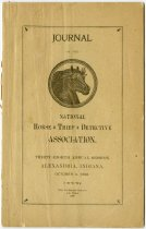 Image of 1898 Journal of the National Horse Thief Detective Association, 38th Annual Session, Alexandria, Madison County, Indiana - John Martin Smith Miscellaneous Collection