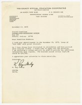 Image of Letter and Resume for the ACD Museum Search Committee from K. Ray Fenley - Jack Randinelli ACD Collection