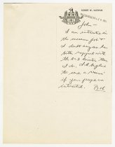 Image of Correspondence between Robert W. McEwan and John Martin Smith regarding the Executive Director position at the ACD Museum - Jack Randinelli ACD Collection