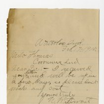 Image of W.R. Forrest Letter - John Martin Smith Miscellaneous Collection