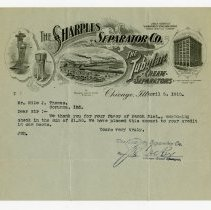 Image of Sharples Separator Company Remittance Advice   - John Martin Smith Miscellaneous Collection
