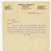 Image of Joseph L. Skeldon Sales Order  - John Martin Smith Miscellaneous Collection