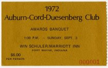 Image of ACD Club Awards Banquet Ticket, 1972 - Jack Randinelli ACD Collection