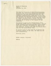 Image of Letter to School for Prom at Museum - Jack Randinelli ACD Collection