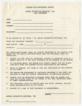 Image of ACD Museum Exhibit Loan Agreement - Jack Randinelli ACD Collection