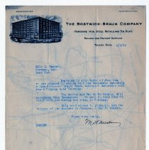 Image of Bostwick-Braun Company Sales Letter