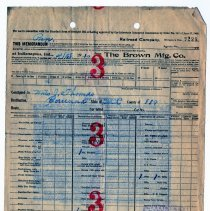 Image of Brown Manufacturing Company Bill of Lading  - John Martin Smith Miscellaneous Collection