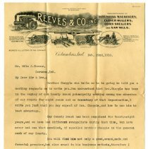 Image of Reeves and Company, Incorporated Letter