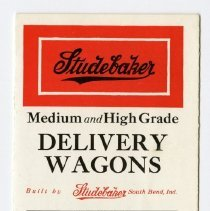 Image of Studebaker Brothers Manufacturing Company Pamphlet  - John Martin Smith Miscellaneous Collection