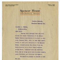 Image of Spencer House Letter  - John Martin Smith Miscellaneous Collection