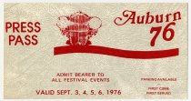Image of Press Pass Ticket for September 1976 - Jack Randinelli ACD Collection