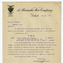Image of Peninsular Stove Company Letter - John Martin Smith Miscellaneous Collection