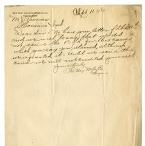 Image of Ney Manufacturing Company Letter - John Martin Smith Miscellaneous Collection