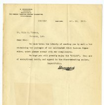 Image of S. Anargyros Corporation Letter - John Martin Smith Miscellaneous Collection