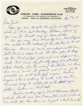 Image of Letter to Jack Randinelli - Jack Randinelli ACD Collection
