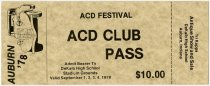 Image of Festival Pass for Auburn Cord Duesenberg Festival in 1978 - Jack Randinelli ACD Collection