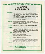 Image of Announcement for April 11, 1981 Real Estate Auction near Pekin and Manito, Illinois - Jack Randinelli ACD Collection